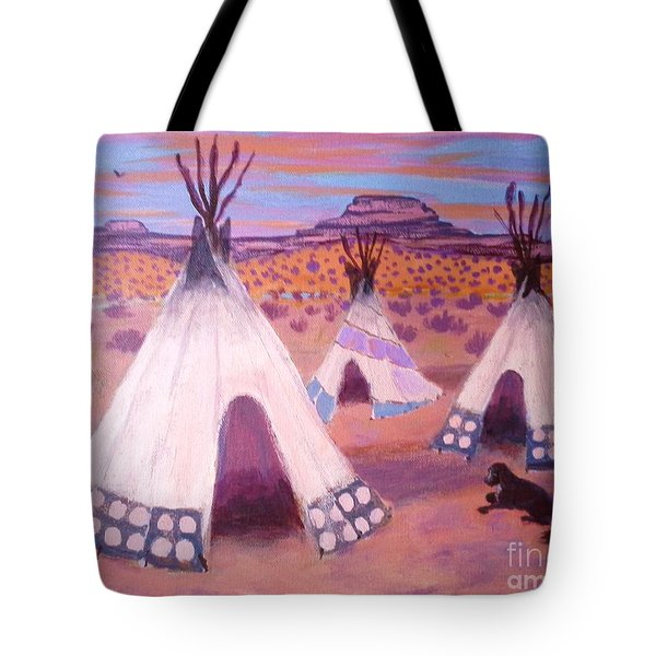 Piegan Indian Tipis Tote Bag