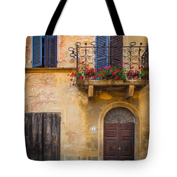 Pienza Balcony Tote Bag
