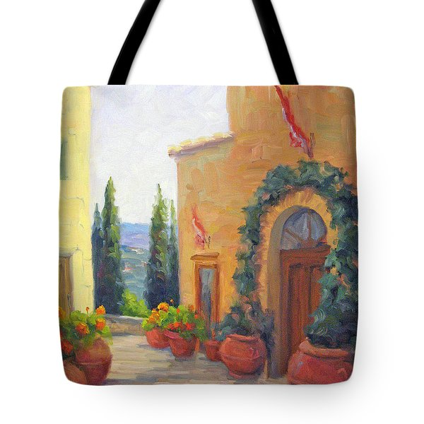 Pienza Passage Tote Bag by Bunny Oliver