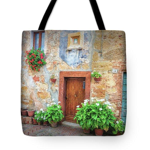Pienza Street Scene Tote Bag