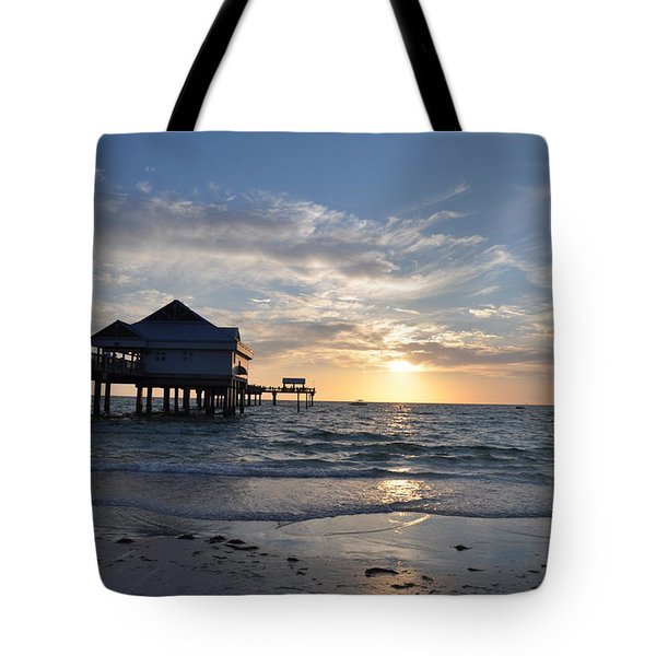 Pier 60 At Clearwater Beach Florida Tote Bag by Bill Cannon