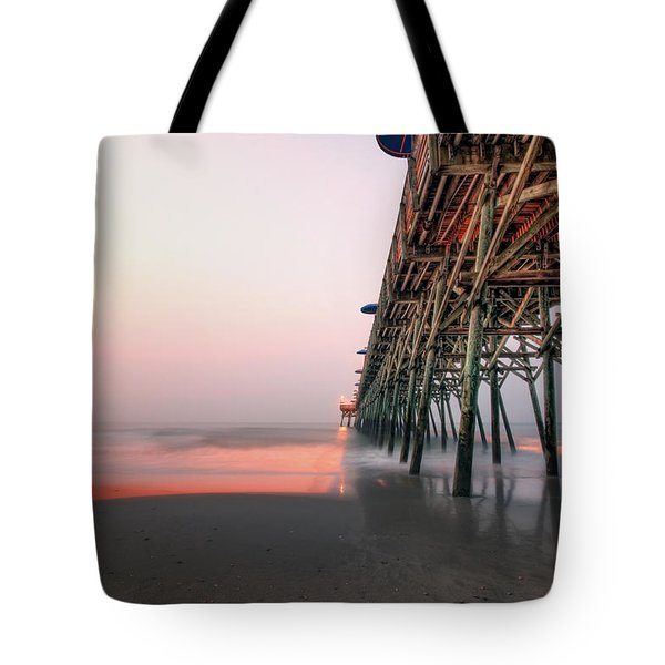 Pier And Surf Tote Bag