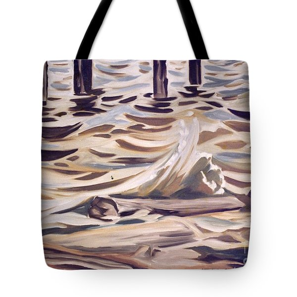 Pier At Granthams Landing Tote Bag