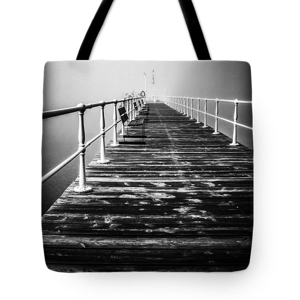 Pier At Pooley Bridge On Ullswater In The Lake District Tote Bag