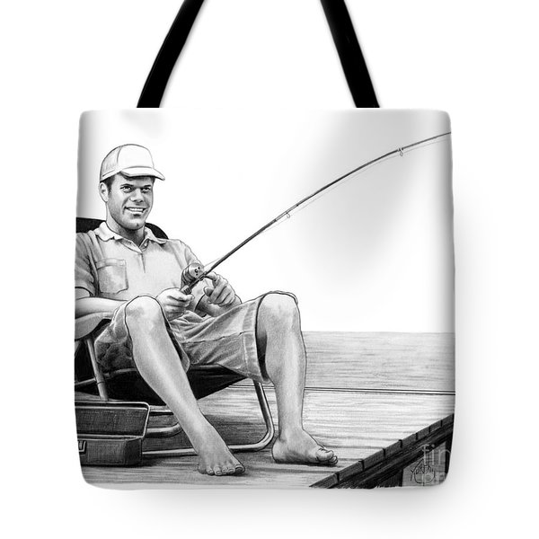 Pier Fishing Tote Bag