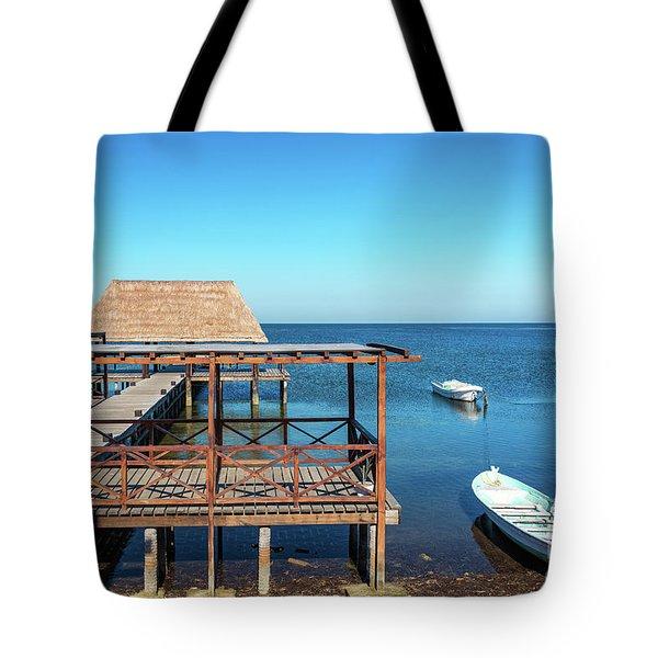 Pier In Champoton, Mexico Tote Bag