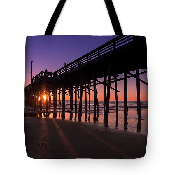 Tote Bag featuring the photograph Pier In Purple by T A Davies