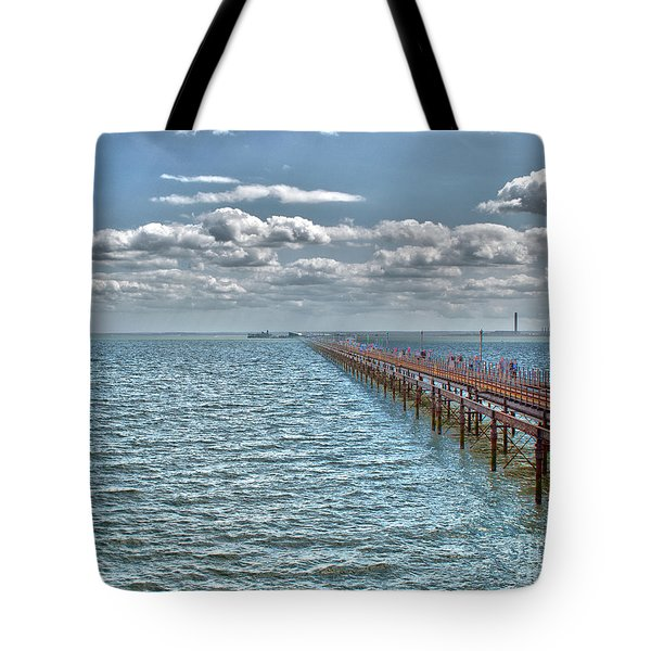 Pier Into The English Channel Tote Bag