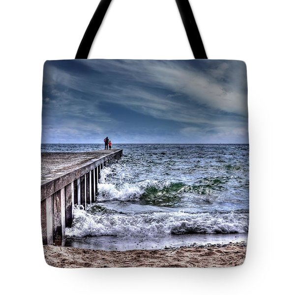 Pier On The Beach  Tote Bag
