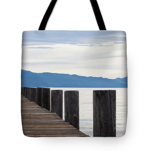 Tote Bag featuring the photograph Pier On The Lake by Ana V Ramirez