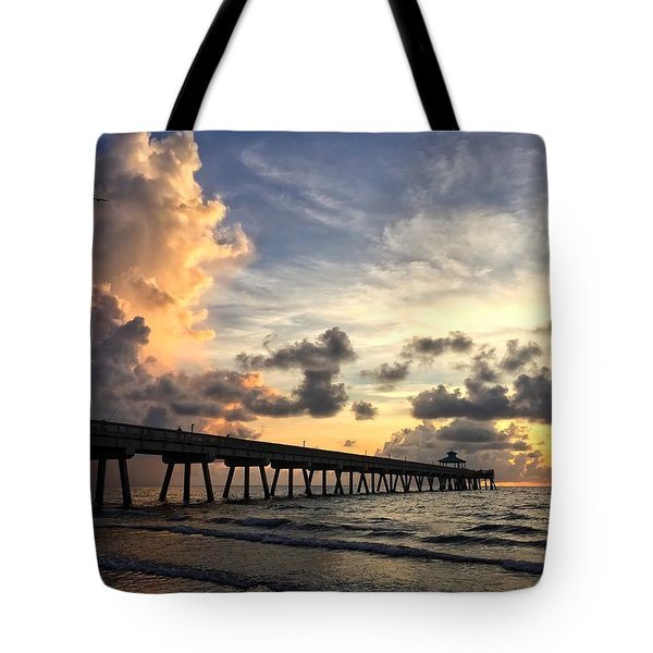 Pier On The Left Tote Bag