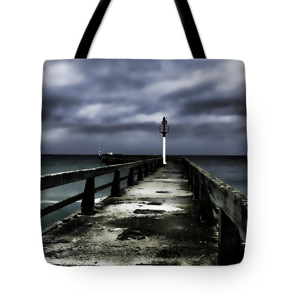 Pier Pointe Du Hoc Tote Bag