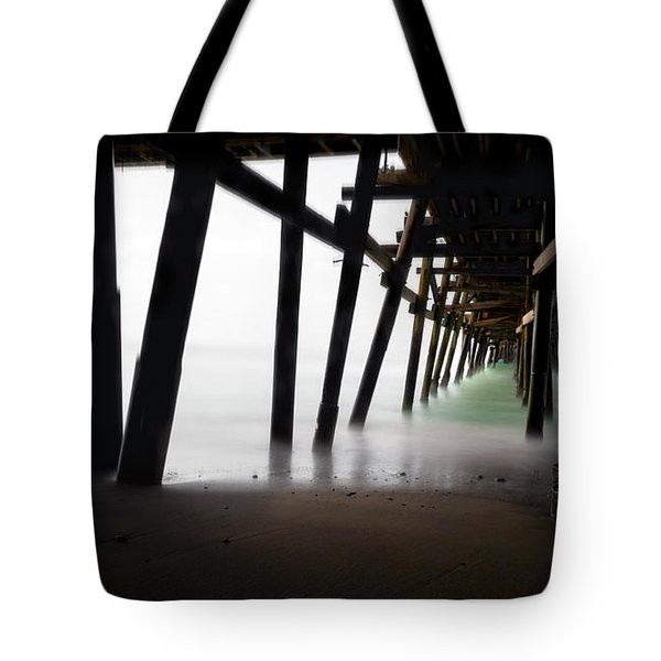 Tote Bag featuring the photograph Pier Pressure by Sean Foster