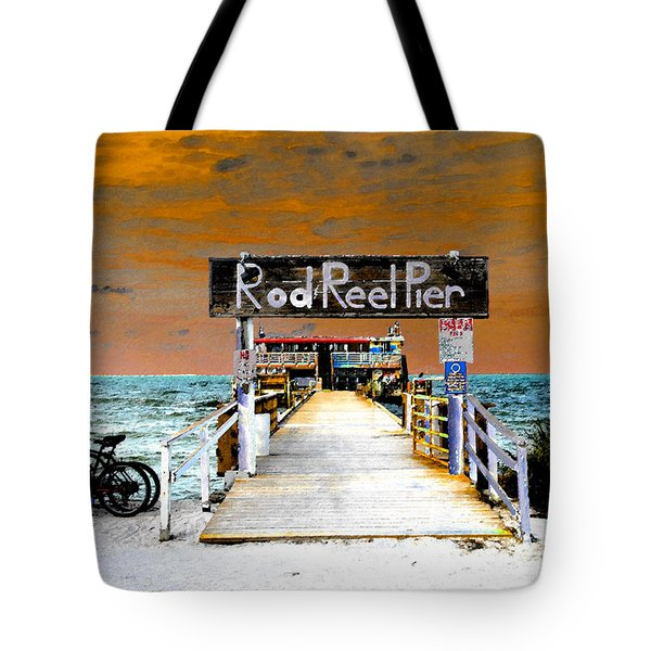 Pier Scape Tote Bag by David Lee Thompson