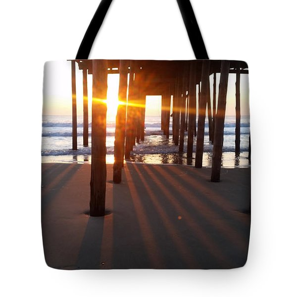 Pier Shadows Tote Bag