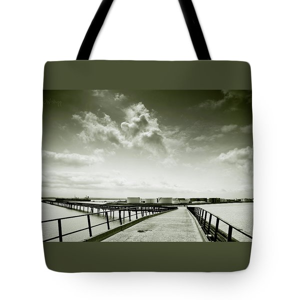 Pier-shaped Tote Bag