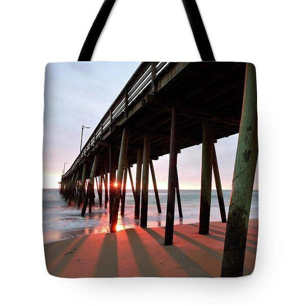 Pier Sunburst Tote Bag