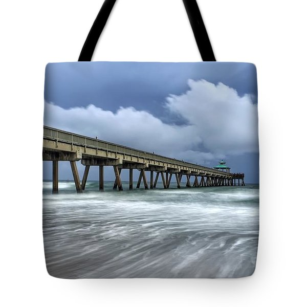Pier Time Lapse Tote Bag