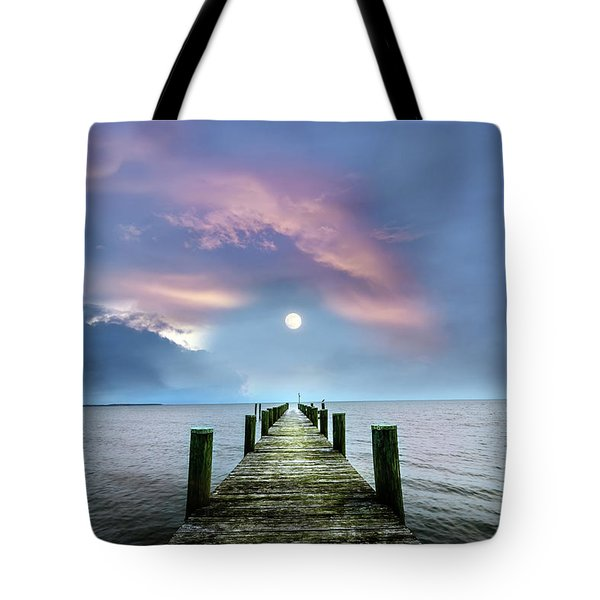 Pier To The Moon Tote Bag