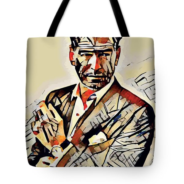 Pierce Brosnan Portrait Tote Bag