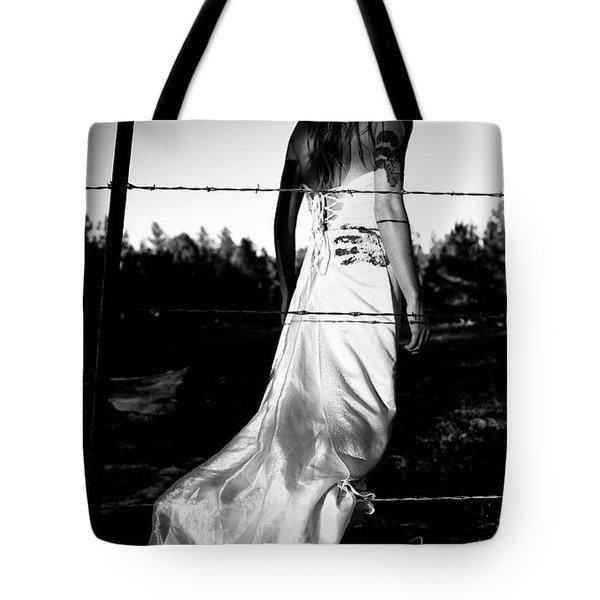 Pierced Dress Tote Bag by Scott Sawyer