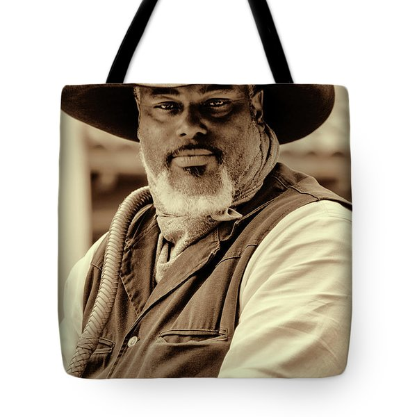 Piercing Eyes Of The Cowboy Tote Bag