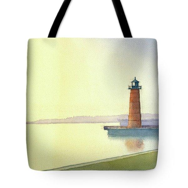Pierhead Lighthouse, Milwaukee Tote Bag