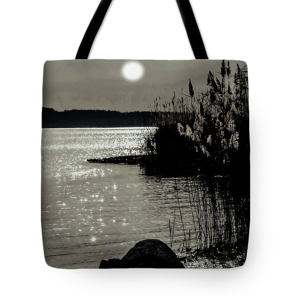 Tote Bag featuring the photograph Piermont Hudson River View by Roger Bester