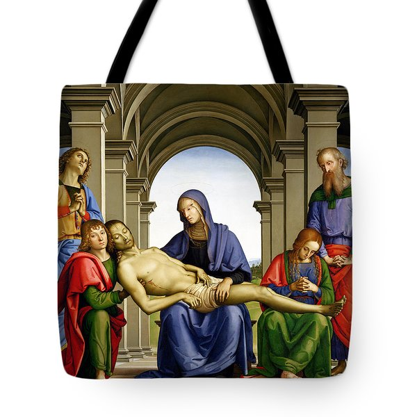 Pieta Tote Bag by Pietro Perugino