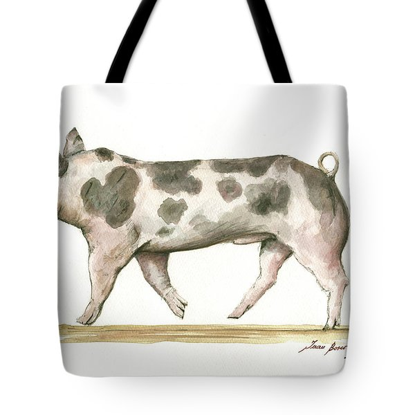 Pietrain Pig Tote Bag
