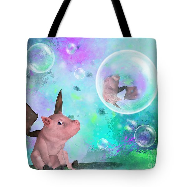 Pig In A Bubble Tote Bag