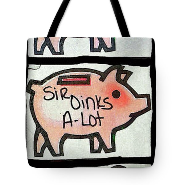 Tote Bag featuring the photograph Pig Party by Joe Jake Pratt