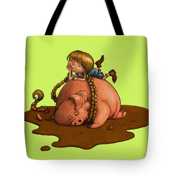 Pig Tales Tote Bag by Andy Catling