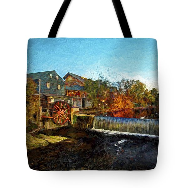 Pigeon Forge Old Mill Tote Bag