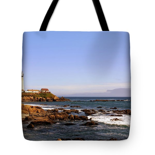 Pigeon Point Lighthouse Ca Tote Bag by Christine Till