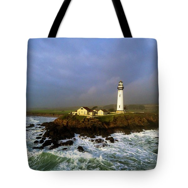 Tote Bag featuring the photograph Pigeon Point Lighthouse by Evgeny Vasenev