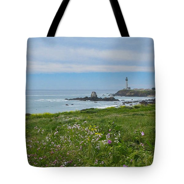 Pigeon Point Lighthouse Tote Bag by Mark Barclay