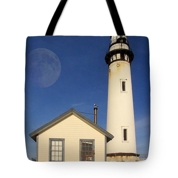 Pigeon Point Lighthouse Tote Bag by Wingsdomain Art and Photography