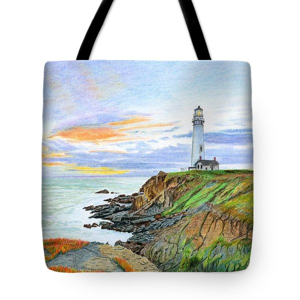 Pigeon Point Sunset Tote Bag by Mike Robles