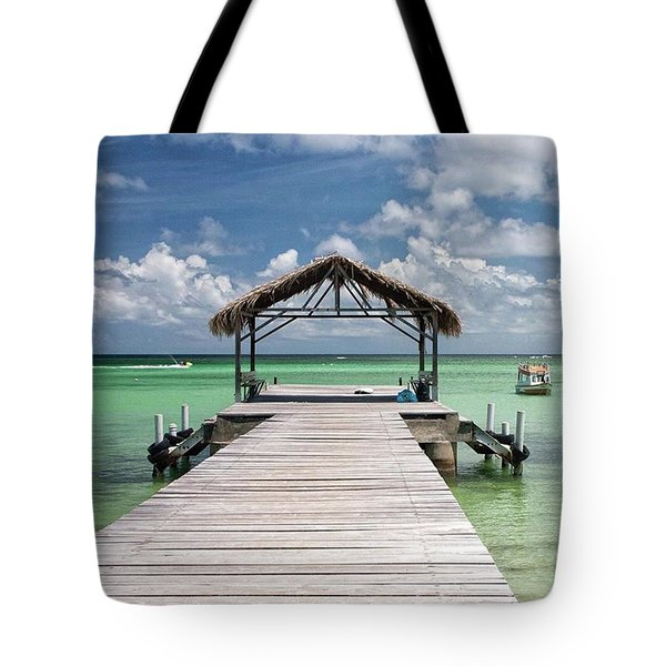 Pigeon Point, Tobago#pigeonpoint Tote Bag by John Edwards