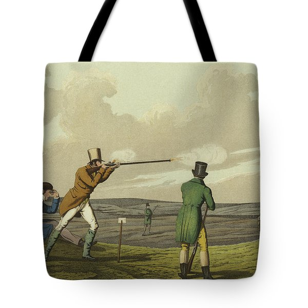 Pigeon Shooting Tote Bag