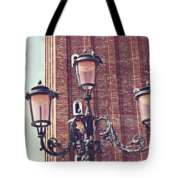 Tote Bag featuring the photograph Pigeons by Cendrine Marrouat