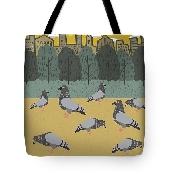Pigeons Day Out Tote Bag