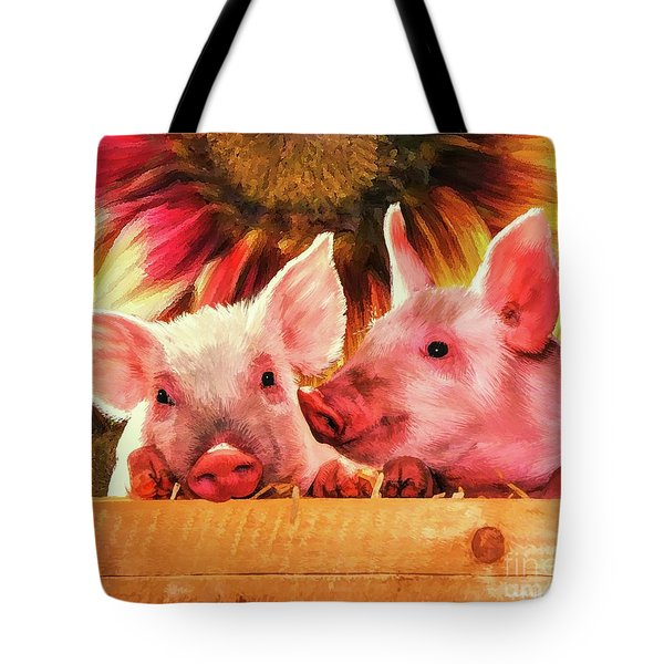 Piglet Playmates Tote Bag by Tina LeCour
