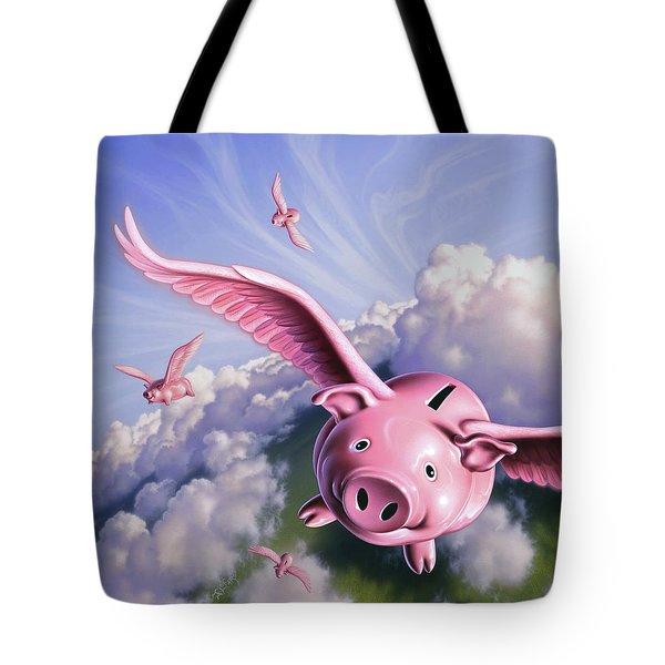 Pigs Away Tote Bag