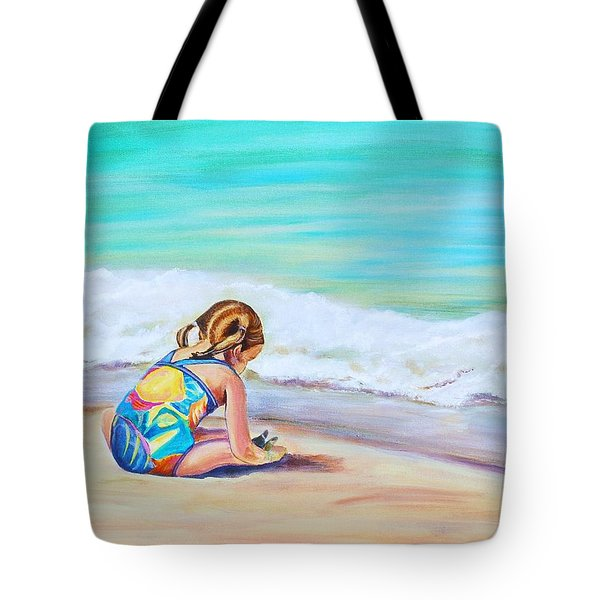 Tote Bag featuring the painting Pigtail Cutie by Patricia Piffath