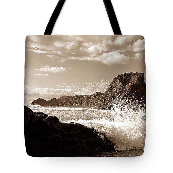 Piha New Zealand Waves Tote Bag