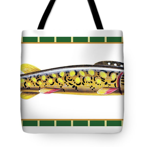 Pike Ice Fishing Decoy Tote Bag