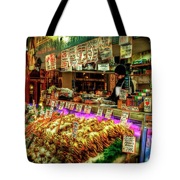 Pike Market Fresh Fish Tote Bag