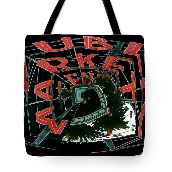 Pike Place Market Entrance 4 Tote Bag by Tim Allen